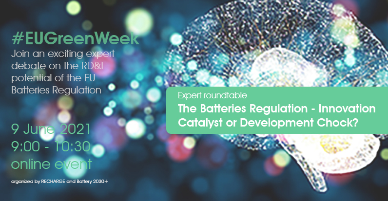 RECHARGE Event - The Impact of the Batteries Regulation on Research and Innovation